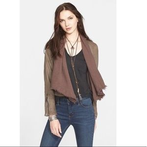 Free People | Olive Denim Style Bohemian Jacket 6